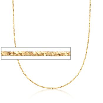 Italian 1.5mm 18kt Yellow Gold Adjustable Slider Diamond-Cut Chain Necklace, , default