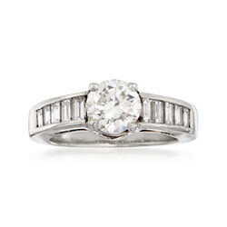 C. 2000 Vintage 1.93 ct. t.w. Certified Diamond Ring in Platinum, , default