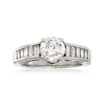 C. 2000 Vintage 1.93 ct. t.w. Certified Diamond Ring in Platinum. Size 4.5, , default