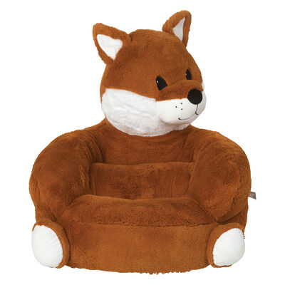 Children's Fox Plush Character Chair, , default