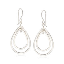 """Zina Sterling Silver """"Wired"""" Double Pear-Shaped Drop Earrings, , default"""