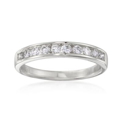 .50 ct. t.w. Channel-Set Diamond Ring in 14kt White Gold, , default