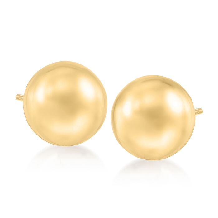10mm 14kt Yellow Gold Ball Stud Earrings