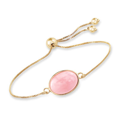 Pink Opal Bolo Bracelet in 18kt Gold Over Sterling, , default
