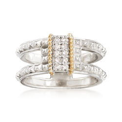 "Andrea Candela ""La Romana"" .14 ct. t.w. Diamond Ring in Sterling Silver and 18kt Gold, , default"