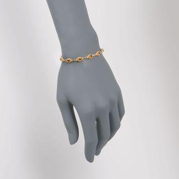 "6.00 ct. t.w. Citrine Bracelet in 14kt Yellow Gold. 7"""