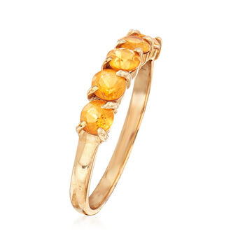 C. 1990 Vintage .75 ct. t.w. Citrine Ring in 14kt Yellow Gold. Size 6, , default