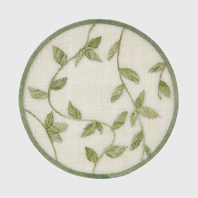 Joanna Buchanan Green Leaf Straw Placemat