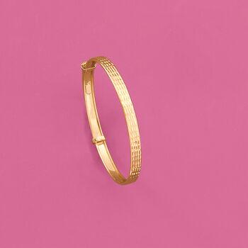 Child's 14kt Yellow Gold Adjustable Bangle Bracelet