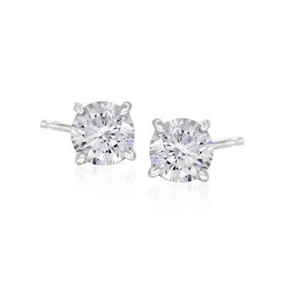 C. 2000 Vintage .70 ct. t.w. Diamond Stud Earrings in 14kt White Gold, , default