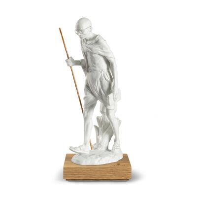 Lladro Mahatma Gandhi 150th Anniversary Porcelain Figurine, , default