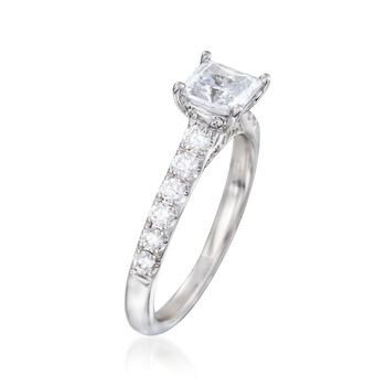 .54 ct. t.w. Diamond Engagement Ring Setting in 14kt White Gold, , default