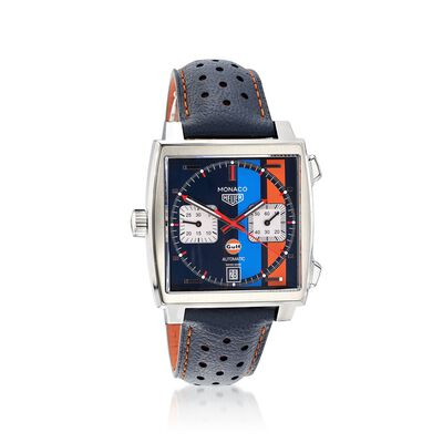 TAG Heuer Special Edition Monaco Gulf Men's 39mm Chronograph Watch, , default