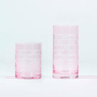 Pink Cane Glassware, , default