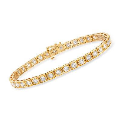 5.00 ct. t.w. Diamond Bracelet in 14kt Yellow Gold, , default