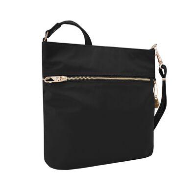 "Travelon ""Anti-Theft Tailored"" Onyx-Black Nylon Twill North/South Slim Bag, , default"