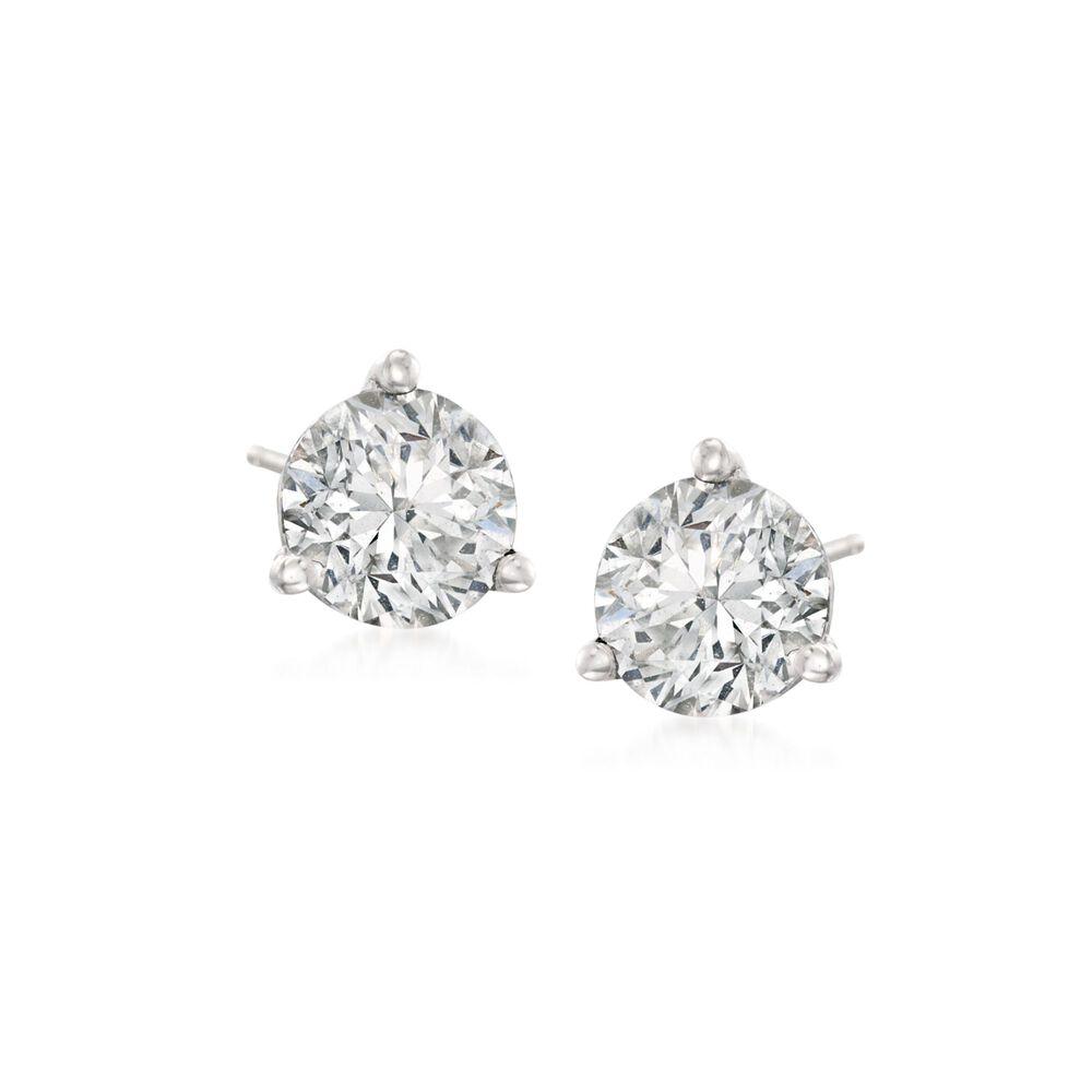 25 Ct T W Diamond Martini Stud Earrings In Platinum Ross Simons
