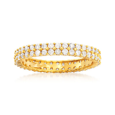 1.00 ct. t.w. Diamond Double-Row Eternity Band in 14kt Yellow Gold
