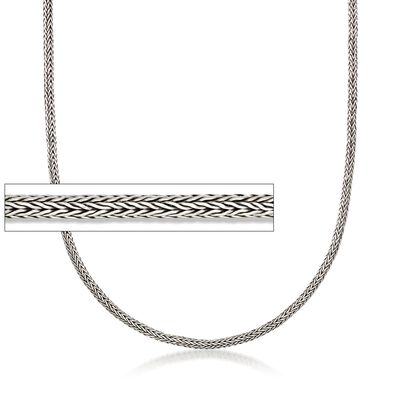 3mm Sterling Silver Modified Wheat Chain Necklace