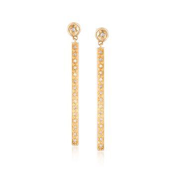 .10 ct. t.w. Diamond Linear Earrings in Two-Tone Sterling Silver, , default