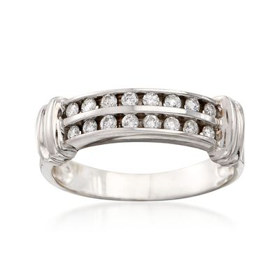 C. 1990 Vintage .40 ct. t.w. Channel-Set Diamond Ring in 14kt White Gold, , default