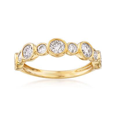 1.00 Carat Bezel-Set Diamond Ring in 14kt Yellow Gold, , default