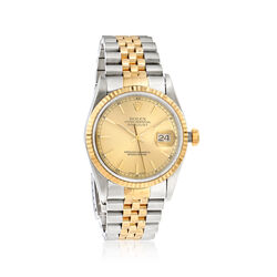 Certified Pre-Owned Rolex Datejust Men's 36mm Automatic Watch in Two-Tone, , default