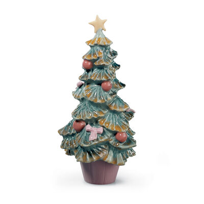 "Lladro ""Christmas Tree"" Porcelain Figurine"