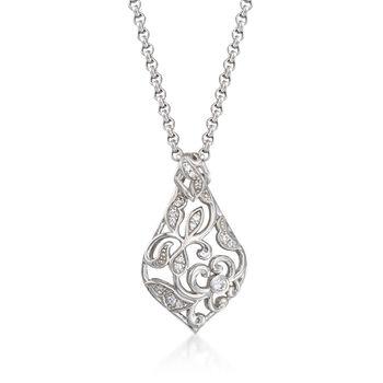 "Belle Etoile ""Empress"" .25 ct. t.w. CZ Pendant in Sterling Silver , , default"