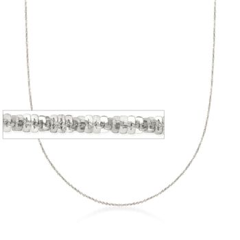 Italian 1.5mm Sterling Silver Adjustable Slider Crisscross Chain Necklace , , default