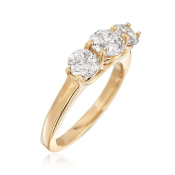2.00 ct. t.w. Diamond Three-Stone Ring in 14kt Yellow Gold