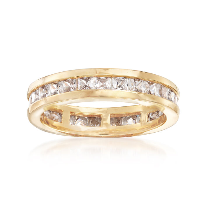 1.80 ct. t.w. CZ Eternity Band in 18kt Yellow Gold Over Sterling Silver