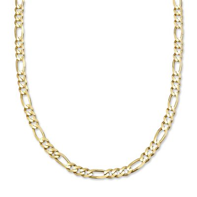 Men's Figaro 6mm 14kt Yellow Gold Chain Necklace, , default