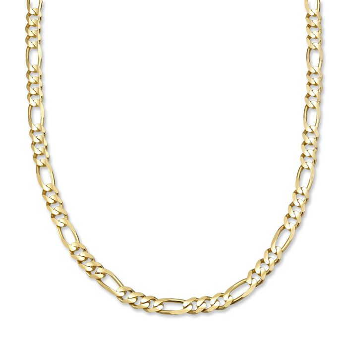 "Men's Figaro 6mm 14kt Yellow Gold Chain Necklace. 20"", , default"