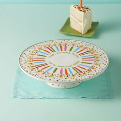 "Lenox ""Candles and Confetti"" Porcelain Musical Birthday Cake Plate, , default"