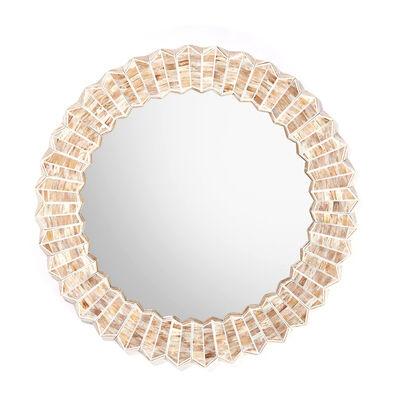 Beige Chevron Wall Mirror, , default