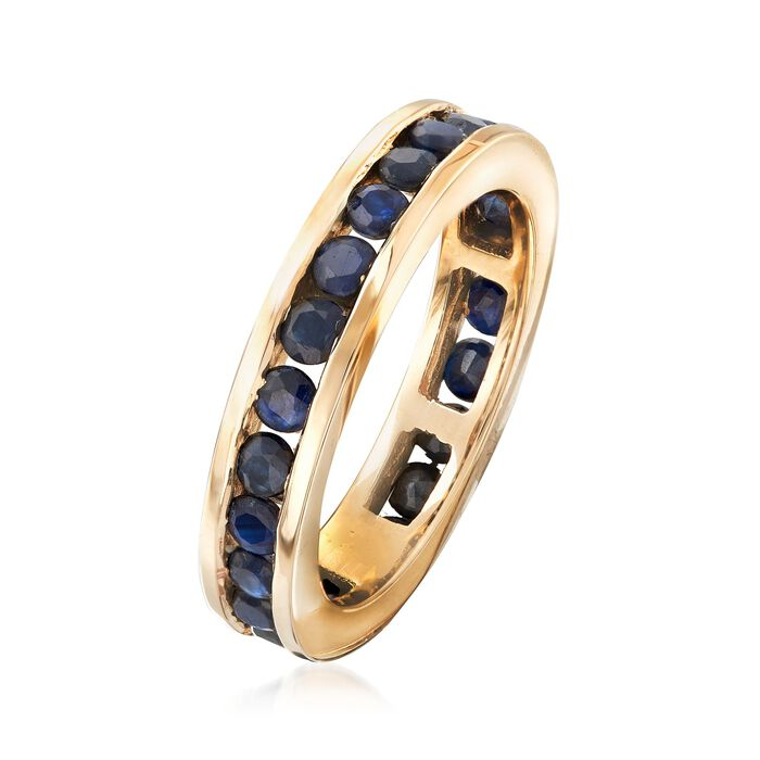 1.30 ct. t.w. Channel-Set Sapphire Eternity Band in 14kt Yellow Gold