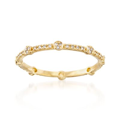 .16 ct. t.w. Diamond Eternity Band in 14kt Yellow Gold, , default