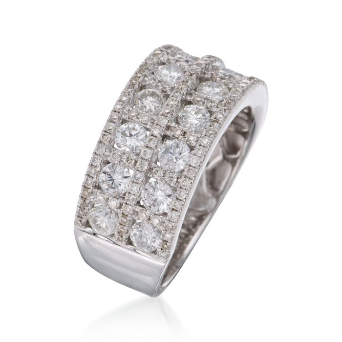 2.19 ct. t.w. Diamond Wide-Band Ring in 18kt White Gold