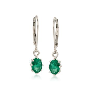 1.60 ct. t.w. Emerald Earrings in 14kt White Gold, , default