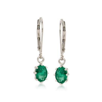 1.60 ct. t.w. Emerald Earrings in 14kt White Gold, , default