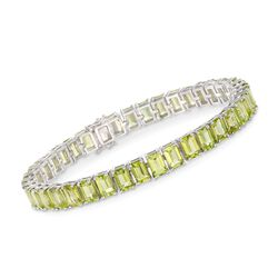20.00 ct. t.w. Peridot Tennis Bracelet in Sterling Silver, , default