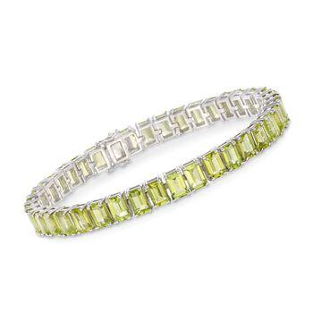 20.00 ct. t.w. Peridot Tennis Bracelet in Sterling Silver, , default