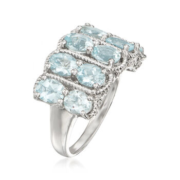 2.70 ct. t.w. Aquamarine Ring in Sterling Silver, , default