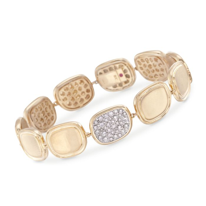 Roberto Coin .84 ct. t.w. Diamond Bracelet in 18kt Yellow Gold. 7""