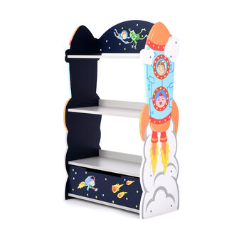 Outer Space Children's Wooden Bookcase, , default