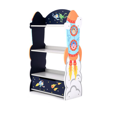 Outer Space Children's Wooden Bookcase, , default