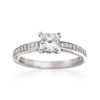 C. 2000 Vintage Tiffany Jewelry 1.00 ct. t.w. Certified Diamond Ring in Platinum. Size 6, , default