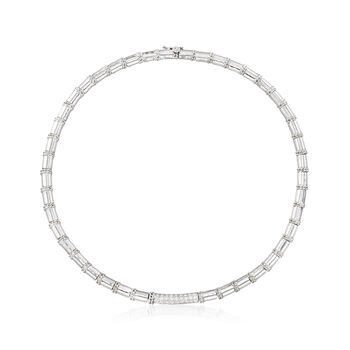 """C. 1990 Vintage Cassis .75 ct. t.w. Diamond Collar Necklace in 18kt White Gold. 15""""  , , default"""