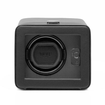 """Windsor"" Black Faux Leather Single Watch Winder by Wolf Designs, , default"